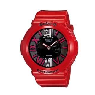 Casio Baby-G Ladies Red Resin Strap Watch
