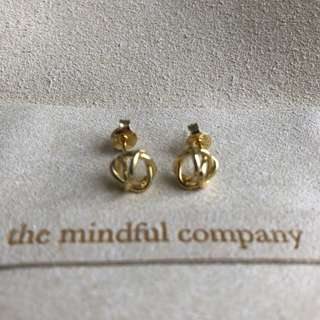 14k gold plated knots earrings