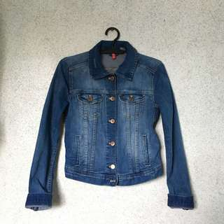 Divided by h&m dark denim jacket