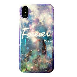 情侶 藍光Together ,Forever. IPhone case