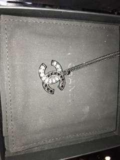 Chanel 黑白色雙間 閃石項鍊 全新購自法國