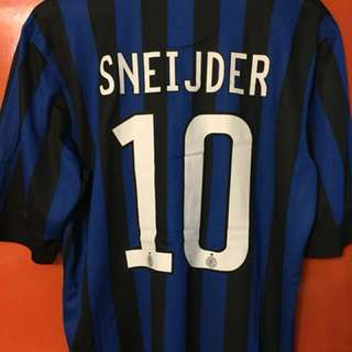 全新 國際米蘭 inter Milan 11-12 主場球衣連Sheijder 大碼 L