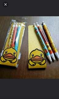 B.Duck Pen Set (紅色、藍色原子筆、鉛芯筆)
