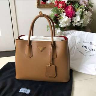 NEW Prada Cuir Double Bag Saffiano Tote
