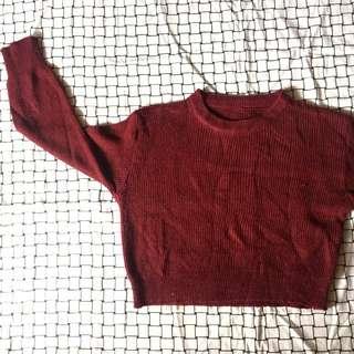 Sweater Maroon Crop