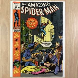 MARVEL COMICS The Amazing Spider-Man #96-Drug story not approved by Comics Code Authority (Serious Buyers Only)
