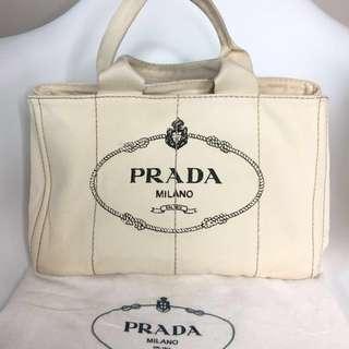 真品 Auth Prada canvas bag