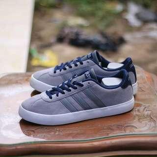 Sepatu ADIDAS VL COURT GREY ORIGINAL