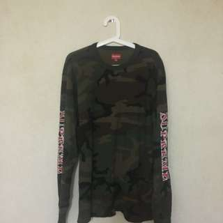 Supreme 17F/W camo waffle long sleeve tee backpack duffle sweater zip up