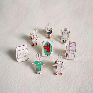 Bunny Enamel Pin Pack