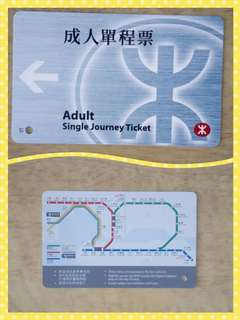 舊款地鐵票。收藏。
