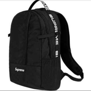 Supreme SS18 black backpack