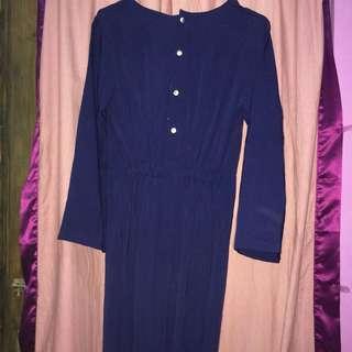 Long dress cape navy