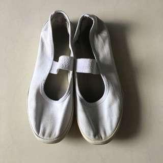 School White Shoes Fit 7-8Y