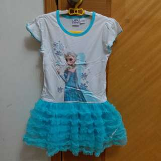 New Frozen Elsa Dress 女童 冰雪奇緣 裙 Tee