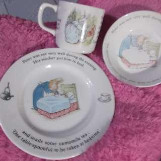 Peter Rabbit Wedgwood England Set