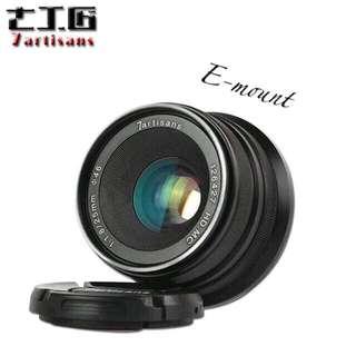 7artisans 25mm F1.8 Manual Focus Prime Fixed Lens for Sony Emount Cameras Like A7 A7II A7R A7RII A7S A7SII A6500 A6300 A6000 A5100 A5000 EX-3 NEX-3N NEX-3R NEX-C3 NEX-F3K NEX-5 NEX-5N - Black
