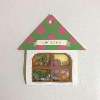 日本ouchiina貼紙包(數字款)