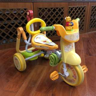Winnie the Poon Tricycle 幼兒學習三輪車