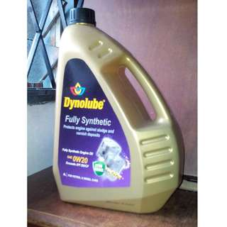 Dynolube 0w20 SN/CF Fully Synthetic Engine Oil - 4 liter