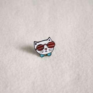 Cat with Sunglasses Enamel Pin