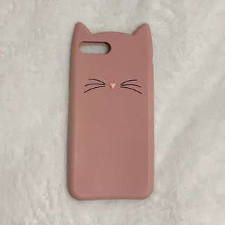Iphone 7/8 PLUS Cat Silicon Case