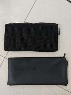 Shure and Audio Technica microphone pouches