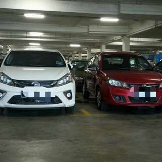 PRODUA AXIA And PRODUA MYVI 5seater