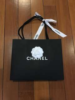 Authentic Chanel Paperbag + Ribbon