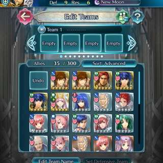 Fire Emblem Heroes CLEAN account w 5*s!
