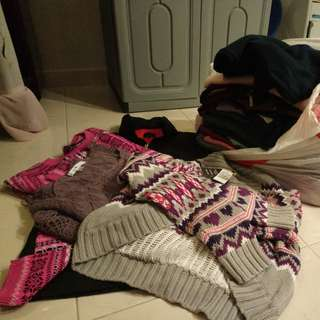 Lots of sweaters to let go from overalls to suitable for cold weathered countries