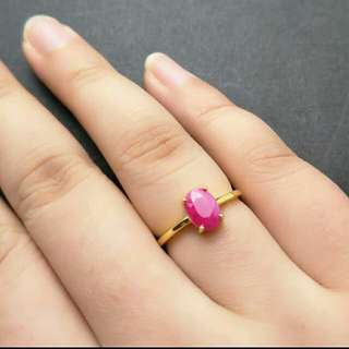 Ruby Natural Gemstone 925 Sterling Silver Ring For Woman