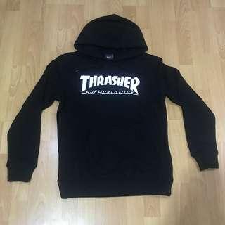 HUF thrasher worldwide black hoodie M