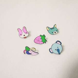 Colorful Characters Enamel Pin Pack