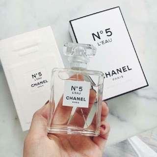 Chanel No.5 N5 L'eau leau 50ml eau de toilette spray 清新晨露淡香水