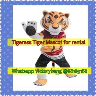 Tigress Tiger Mascot for rental