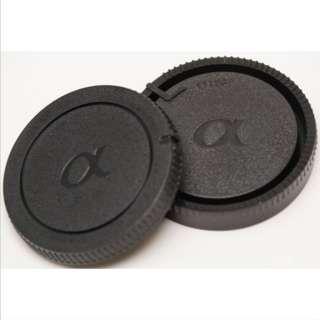 Sony Alpha Mount Rear Lens Cap + Body Cap