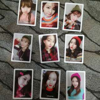(ON HAND) TWICE - Merry & Happy Preorder Benefit Photocard Set