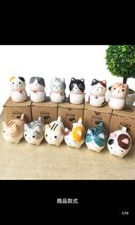 可爱陶瓷猫摆件小胖猫咪🐱
