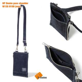 預訂 Head Porter Denim 牛仔 pass shoulder bag 袋 卡片 證件 全品日本製🇯🇵