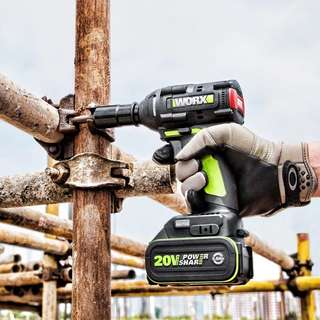 Worx 新版無刷20v鋰電池板手 兩個4.0電池 1充电器是 320大扭力