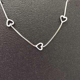 BN Perlini's Silver heart bracelet