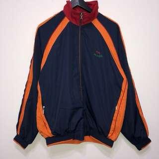 古著 海軍藍配橘 教練外套 立領夾克 復古 vintage