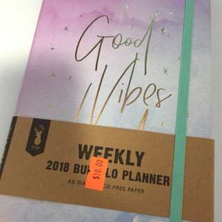 Brand new typo planner- good vibes only