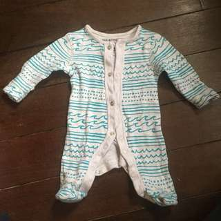 Tiny baby sleepsuit