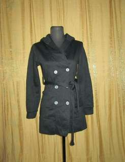 Hoodie Double Breasted Sweater Coat