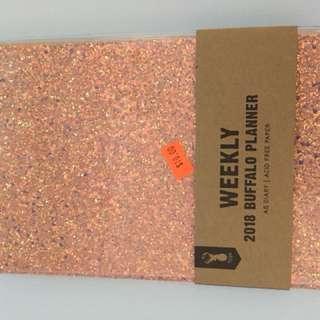 Brand new typo planner- glittery rose