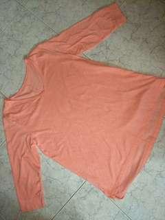 Peach long sleeve top