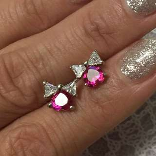 18K GP Cubic Zirconia earring   超閃鍍18K金鋯石耳環水晶耳環