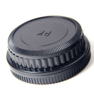 Pentax PK Mount Rear Lens Cap + Body Cap